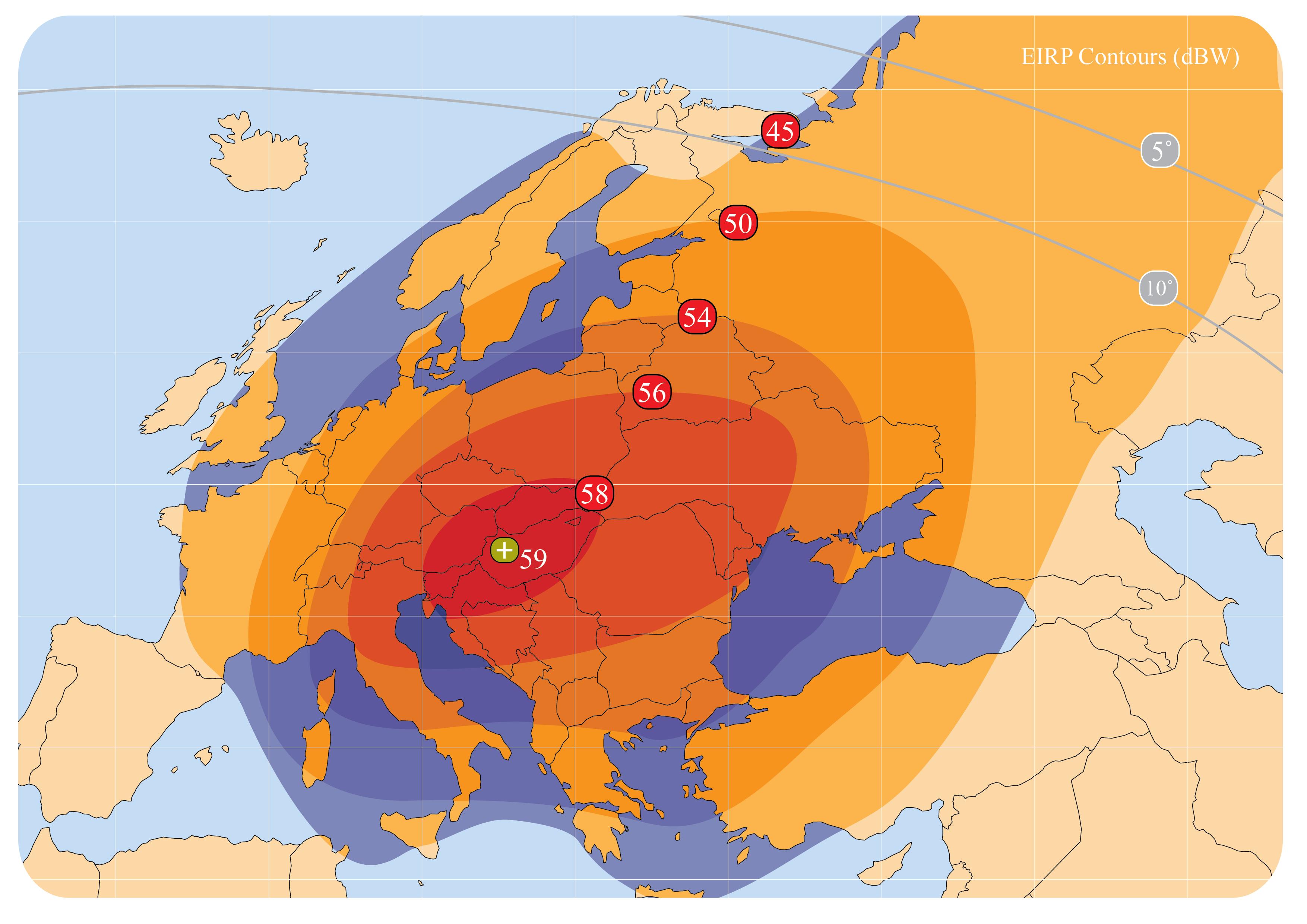 AMOS-3 - Europe Ku nyaláb